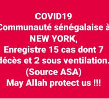 COVID-19: Sadio Yaya Barry président de l'association des Sénégalais aux USA fait la situation des sénégalais sur le coronavirus