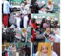VIDÉO FORCE C0VID-19: L'artiste Oumou Sow distribue des denrées alimentaires et des gels antiseptiques aux médinois.