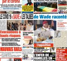 REVUE DES TITRES: La une des quotidiens du vendredi 08 mai 2020