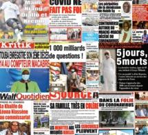 REVUE DES TITRES: La ille du président hospitalisée à principal, mensonge de Adama Gaye, a la une des quotidiens du samedi