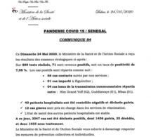 COVID-19: 71 nouveaux cas annoncés
