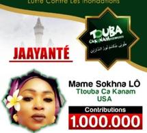 Mame Sokhna lo la senegalaise d Atlanta contribue 1million pour l opération defar yon yi de Touba ça kanam