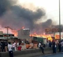 Urgent – Pikine : Un incendie ravage le marché Zinc