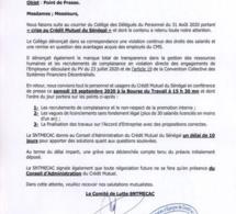 Crédit mutuel du Sénégal: Les travailleurs menacent d'aller en grève