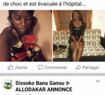 Fake news/ Annoncée être violée: Grâce Kadji Diatta dément et accuse les pirates de sa page Facebook