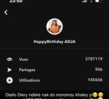 Anniversaire Adja Diallo bat le record des influenceurs: 3.787.119 vues sur snap en 5 jours