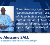 Message de Thierno Alassane Sall président de la république des valeur en ce jour de Maoloud