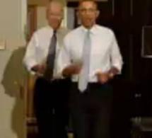 """(Vidéo) """"Let's move"""": footing de B. Obama dans la Maison Blanche"""