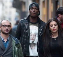 Le joueur de Juventus, Paul Pogba en mode shopping a Milano