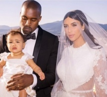 Zoom Photo: Le couple KAnye West-Kim Kardashian avec leur fille