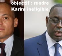 L'objectif de Macky Sall : Rendre Karim Wade inéligible