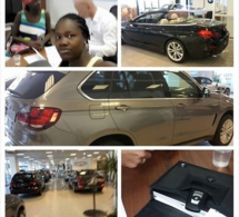 La vraie jet-setteuse Oumou Provoc Ndiaye au carrefour automobile BMW de Nice