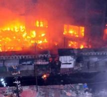 Le marché Gueule Tapée des Parcelles prend feu… vers 3 h du matin