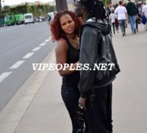 Le rappeur Blackstar tout heureux avec sa femme
