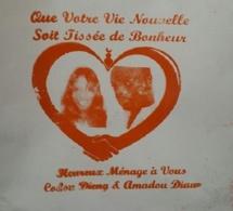Les images du mariage de Codou Dieng et Amadou Diaw.