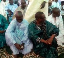 Le ministre du budget Birane Mangara et le ministre conseiller Youssou Ndour à Massilloukoul Djin