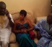 Valerie Bishop Diouf au baptême du fils de Pape Diouf