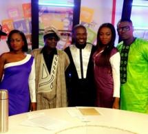 """Toute l'équipe de """"Yewouleen"""" de la TFM  au couleur de la marque SOLMA du rappeur N Jah"""