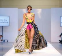 La Gambienne Régina Maneh ex miss Face of Africa Fashion Week London 2013 sur le podium.
