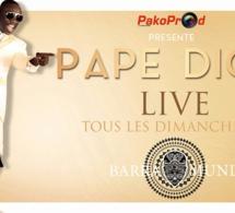 """""""Les rakadiou show"""" se poursuivent, Samedi Pape Diouf vous donne RV au Ravin night et ce dimanche de retour au Baramundi."""