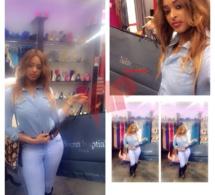 La vidéo girl Awa Fall profite de son séjour pour faire son shopping.