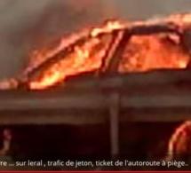 Sommes-nous en sécurité sur l'autoroute à péage ? Trois personnes mortes calcinées dans un véhicule... ( Vidéo exclusive )