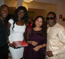 Aida coulibaly, l'épouse de You en compagnie de sa meilleure amie Oumou Ndiaye , Mbaye Dieye et Khalil Fadiga.