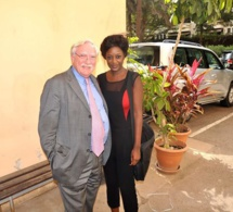 La patronne Site canalfranceinfos Afrique Roky Ghislaine Goudiaby en compagnie de Mr Pagano Ambassadeur de France à Dakar.