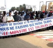 Les journalistes dans les rues et ruelles de Dakar le 31 juillet