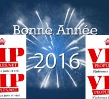 VIPEOPLES.NET vous présente ses meilleurs voeux. Bonne et heureuses année 2016.