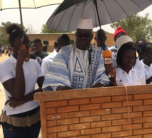 Mamadou Ndoye Bane de la TFM dans sa ville natale Pire.