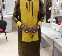 """Cheikh Sarr de la SenTV en mode """"ndanae"""" au grand théatre pour la grande buit """"Sate Serigne Saliou"""" avec Mouhamed Niang."""