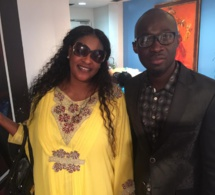 "Modou Ndao Baye Fall de la radio WPAT dans ""Door war"" en compagnie de la talentueuse Kebs de la TFM à New York."