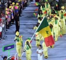 Le passage de la délégation sénégalaise à la cérémonie d'ouverture des Jeux Olympiques de Rio