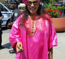 Quand la couleur rose violet dit oui à Kebs Thiam à New York.