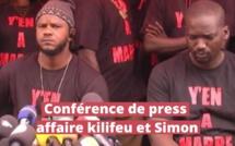 Conférence de presse Y' en à marre: Affaire trafic de visas et migrants kilifeu et SimonThiat Y'en à marre brandit des menaces sur Macky Sall