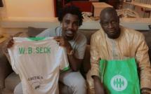 URGENT:Waly Seck reçoit un cadeau du president de St Étienne de France voici le maillot dédicassé